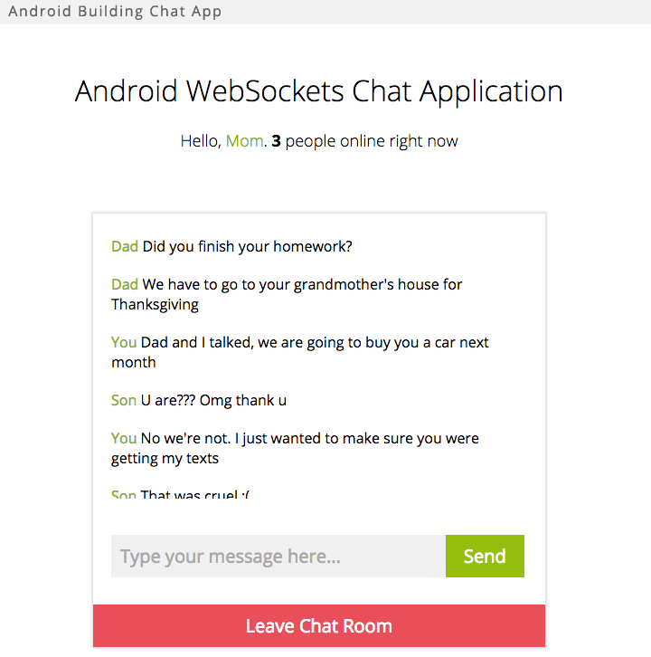 Android Websocket